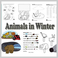 Preschool and Kindergarten Animals in Winter Activities and Crafts