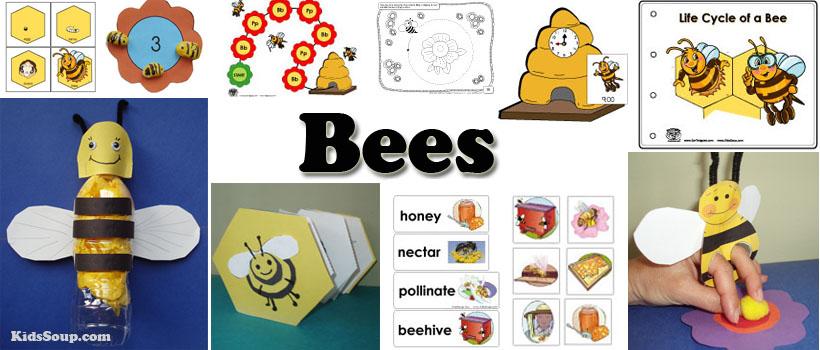 Bees Activities and Crafts for preschool and kindergarten