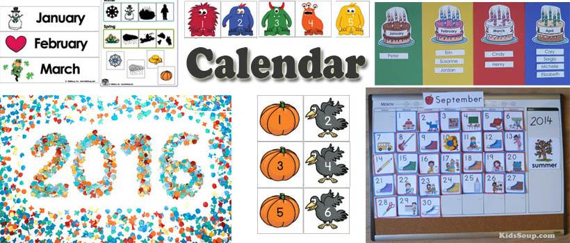 preschool and kindergarten calendar activities and crafts