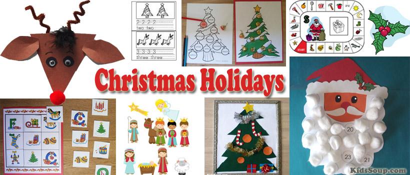 preschool and kindergarten Christmas activities and crafts