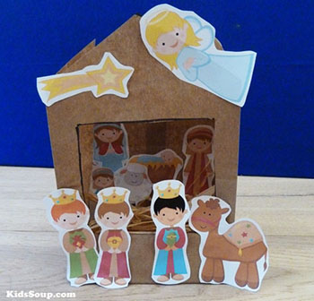 Christmas Nativity Craft for preschool children