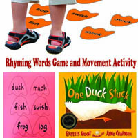 Preschool Kindergarten Ducks Rhyming Activity