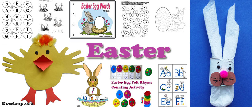 Easter Crafts, Activities, and Games for Preschool and Kindergarten