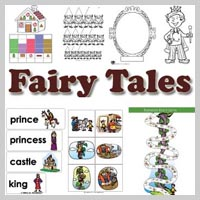 Preschool, Kindergarten Fairy Tales Activities and Crafts