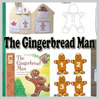 Preschool, Kindergarten, The Gingerbread Man Activities and Crafts