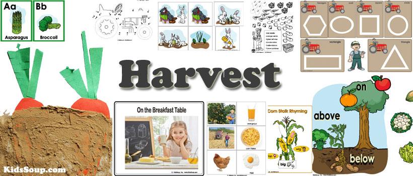 Harvest and Farm activities and games for preschool and kindergarten