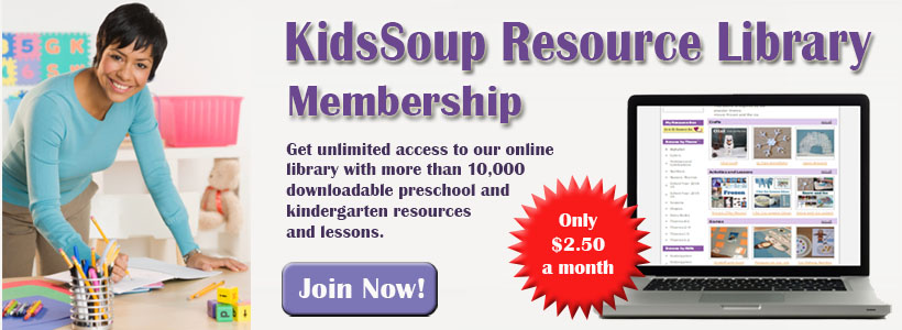 KidsSoup Library kindergarten and preschool activities and crafts