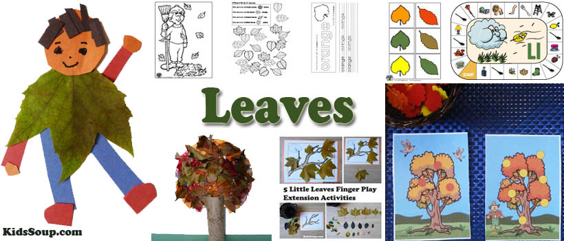 Preschool, Kindergarten, Fall Autumn and Leaves Activities and Crafts