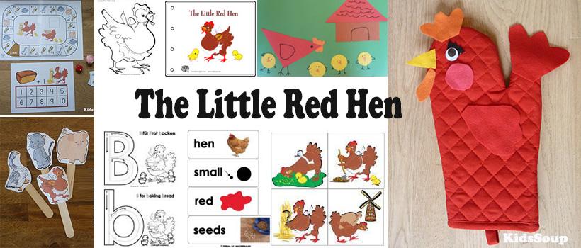 The Little Red Hen activities, games, crafts, printables for preschool and kindergarten