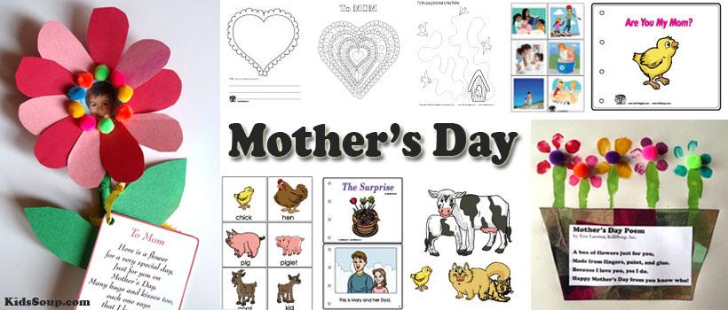 Mother's Day Crafts and Activities for preschool and kindergarten