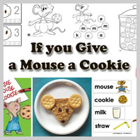 Preschool, Kindergarten If you Give a Mouse a Cookie Activities and Crafts