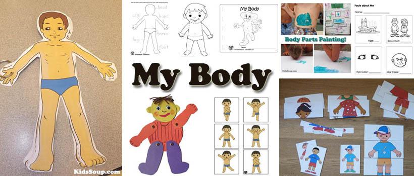 My Body Activities, Crafts, and Lessons for preschool kindergarten