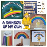 Preschool Kindergarten Rainbow Story Time Activities and Crafts