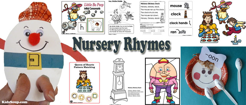 Nursery Rhymes activities and learning games for preschool and kindergarten