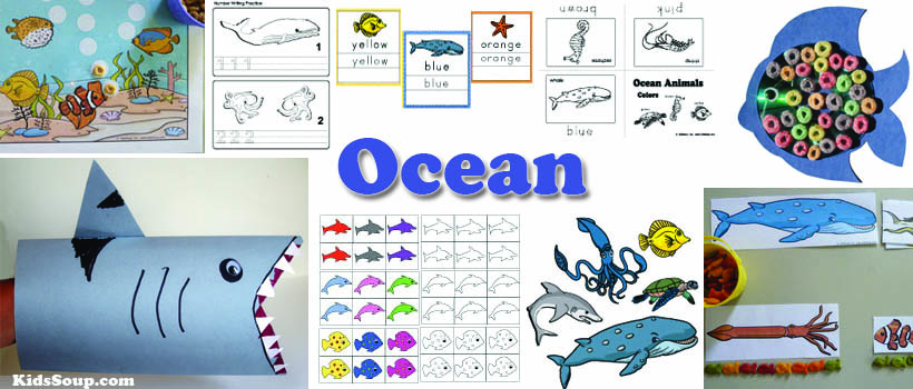 Ocean Animals Activities, Lessons, Crafts for Preschool