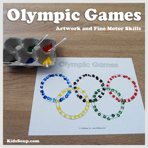Preschool and kindergarten Olympic Games craft and activity