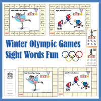 Preschool Kindergarten Olympic Games Sight Words Game