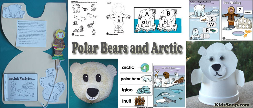 Polar Bear and Arctic Preschool and Kindergarten Activities and Crafts