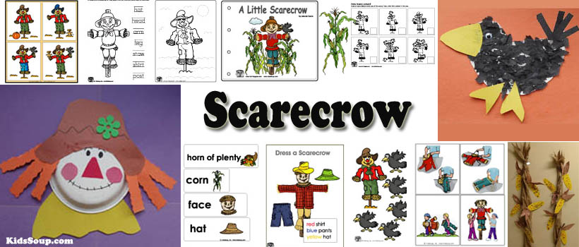 Scarecrow activities and games for preschool and kindergarten