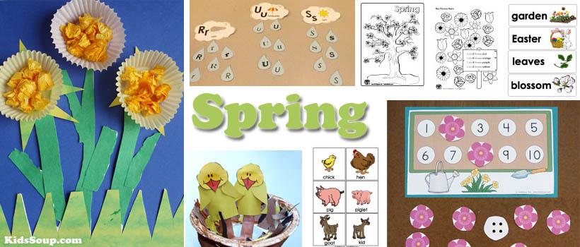 Spring activities and crafts for preschool and kindergarten