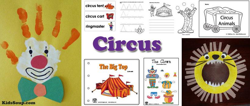 Circus Activities and Crafts for preschool and kindergarten
