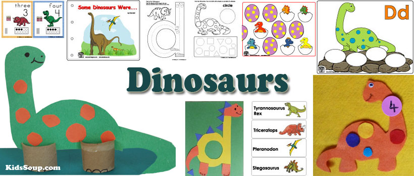 Dinosaurs activities and crafts for preschool and kindergarten