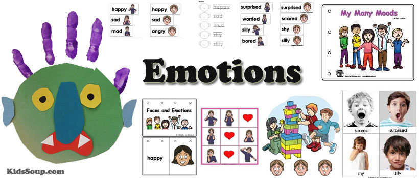Emotions and Feelings preschool and kindergarten activities and crafts