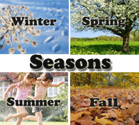 Four Seasons themes for preschool and kindergarten