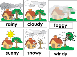 Weather cards and activities for preschool
