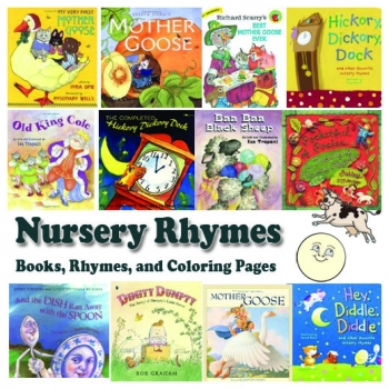 Nursery Rhymes Books, Coloring Pages, and Songs