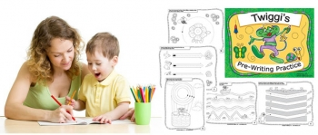 Preschool prewriting skills worksheets and tracing pages