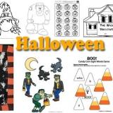 Halloween Crafts, Activities, Games for preschool and kindergarten