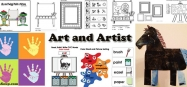 Art and Artist activities, crafts, and lessons for preschool and kindergarten