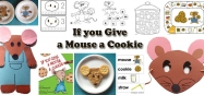 If you Give a Mouse a Cookie activities for  preschool and kindergarten