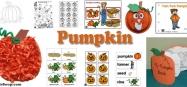 Pumpkin Activities, Lessons, Crafts for preschool and kindergarten