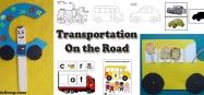 Transportation, Cars, Bus, Trucks Activities for preschool kindergarten