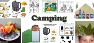camping activities, games, printables and crafts for preschool and kindergarten