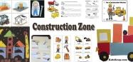 Trucks and Construction activities, crafts, games for preschool and kindergarten